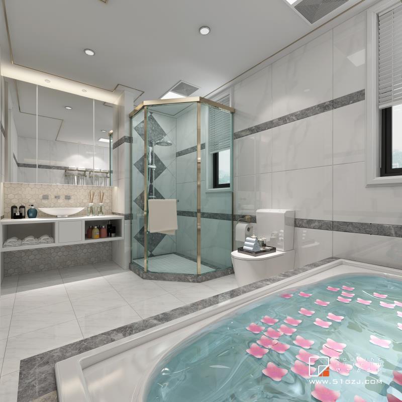 雅居乐二手房装修-120平米-简欧装修-三室两厅-简欧