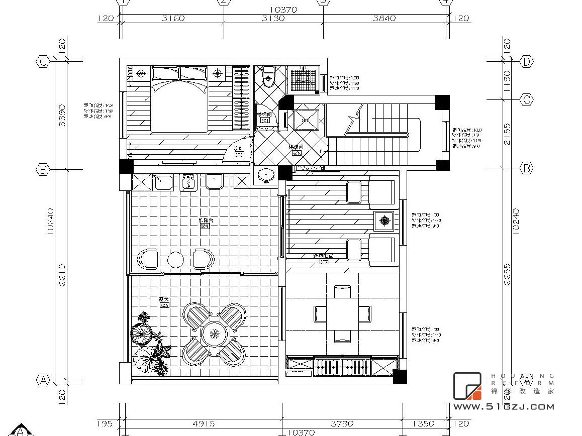 碧桂园凤凰城二手房装修-300平米-简欧装修-别墅-简欧