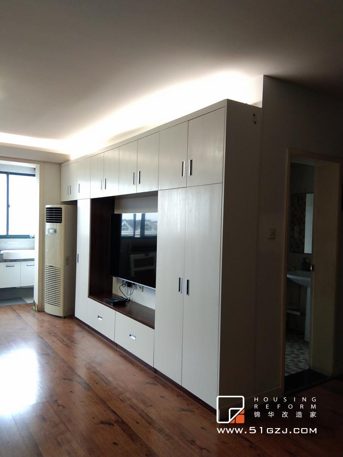 利德家园局部改造-100平米-现代简约装修-小户型-现代简约
