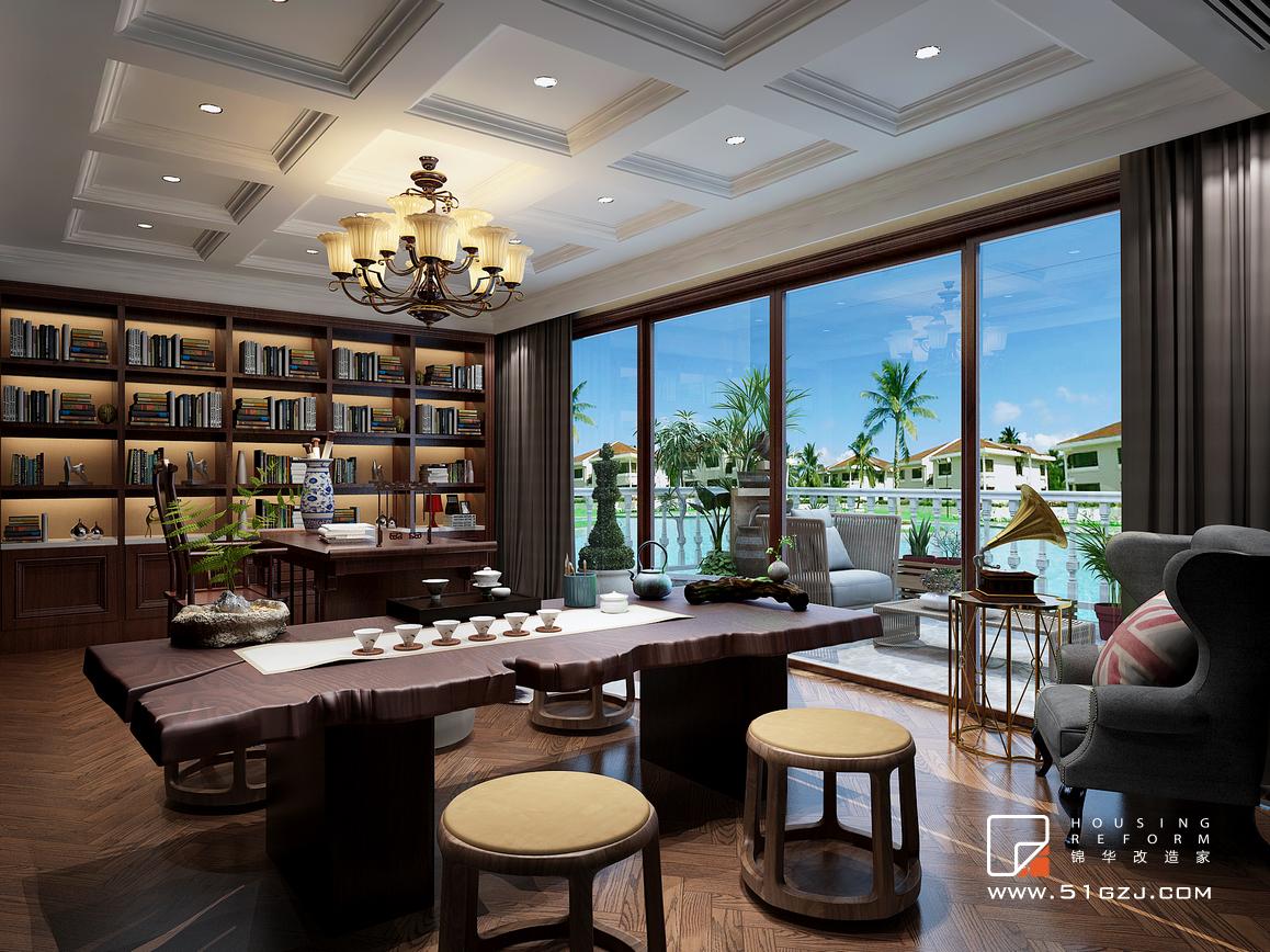 百家湖西苑老房装修-120平米-欧式古典装修-大户型-欧式古典