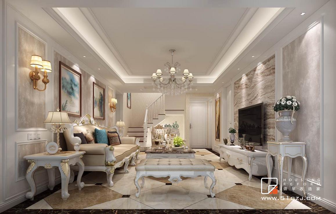 名城世家花园二手房改造-150平米-欧式古典装修-大户型-欧式古典