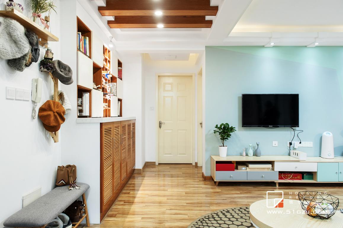 幕府佳园老房装修-86平米-北欧装修-两室一厅-北欧