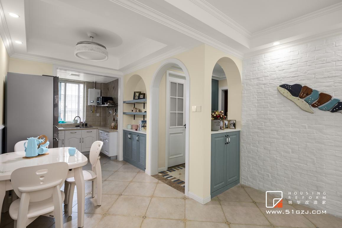 紫金嘉园二手房装修-100平米-简欧装修-三室两厅-简欧