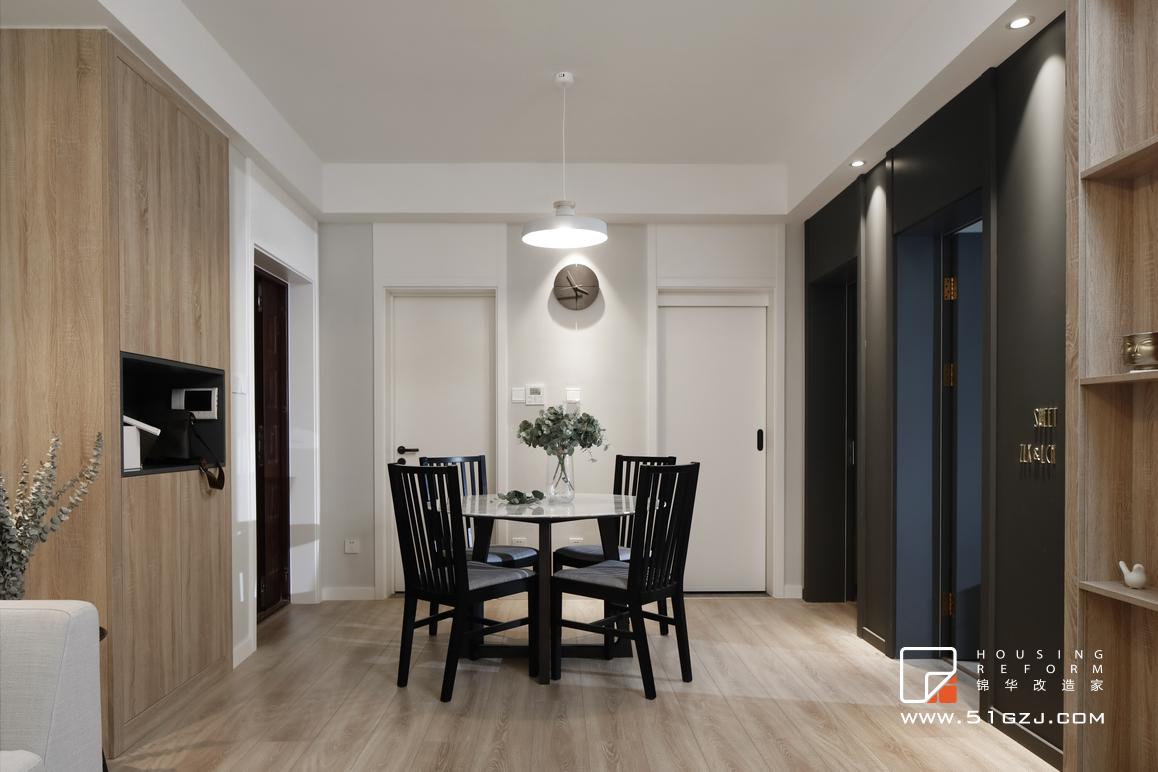 清扬御庭老房翻新-89平米-北欧装修-两室两厅-北欧