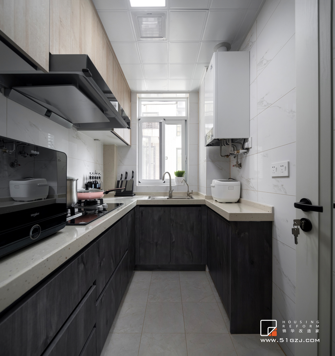 中大颐和湾老房装修-87平米-现代简约装修-两室一厅-现代简约