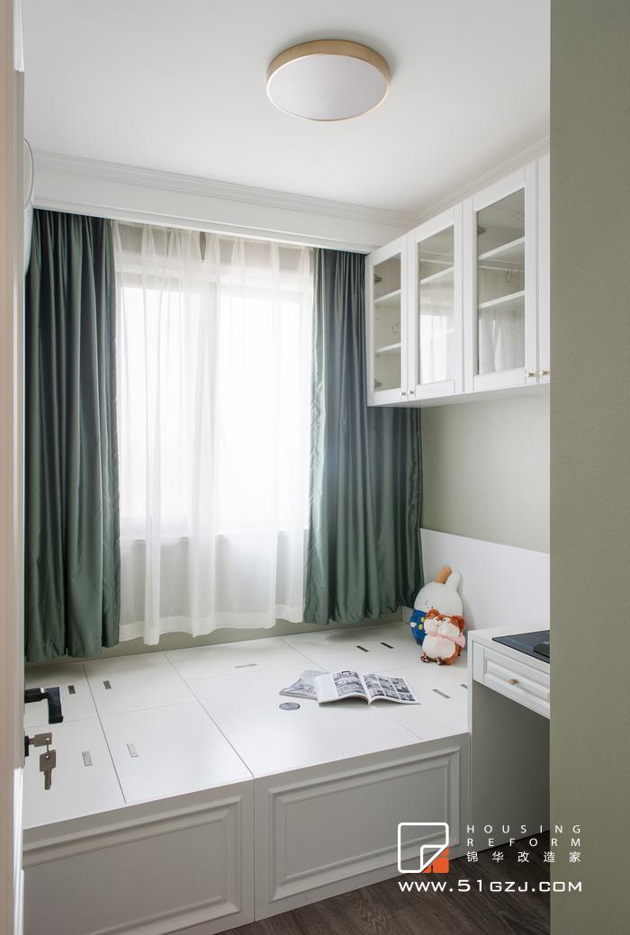 香溢紫郡老房装修-100平米-简美装修-三室两厅-简美