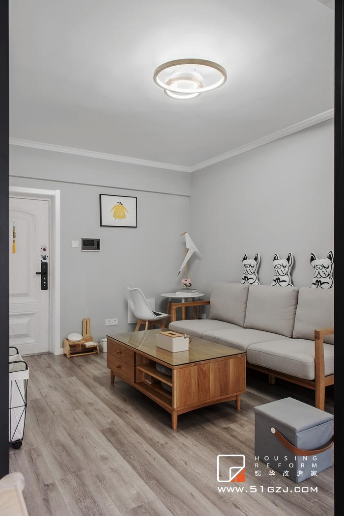 雅居乐花园老房翻新-53平米-北欧装修-小户型-北欧