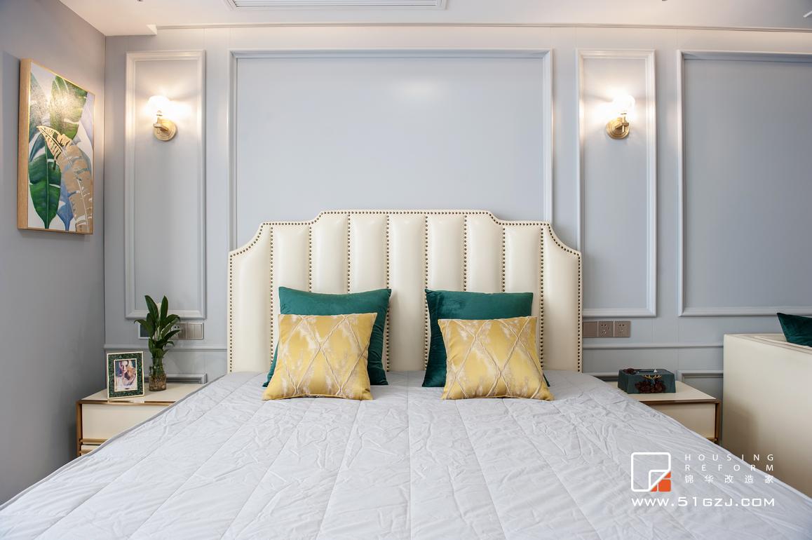 金轮国际广场二手房装修-40平米-美式轻奢装修-小户型-简美