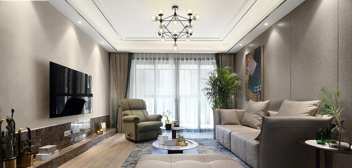 【保利香槟国际】140平米二手房改造案例-现代简约