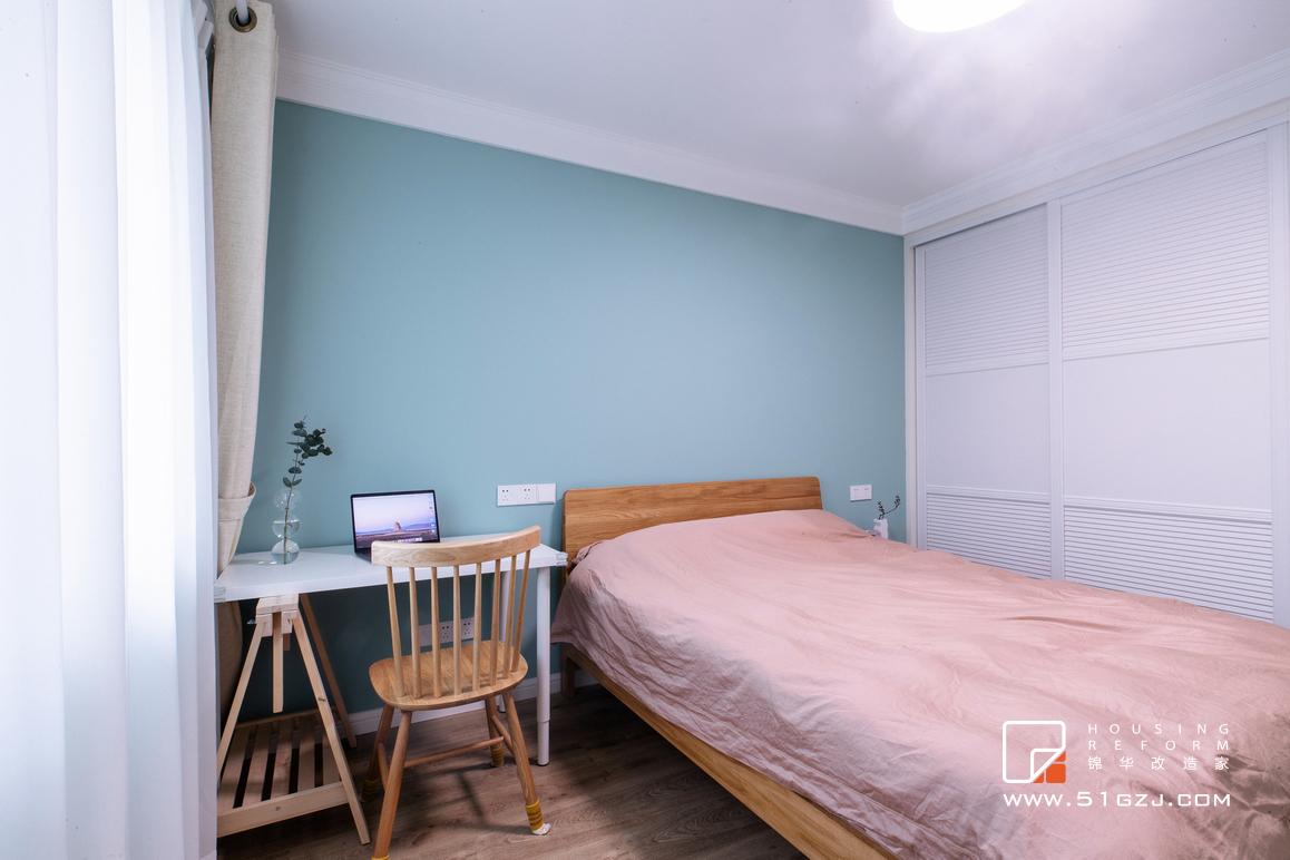 银轮花园老房翻新装修-90平米-北欧装修-两室一厅-北欧