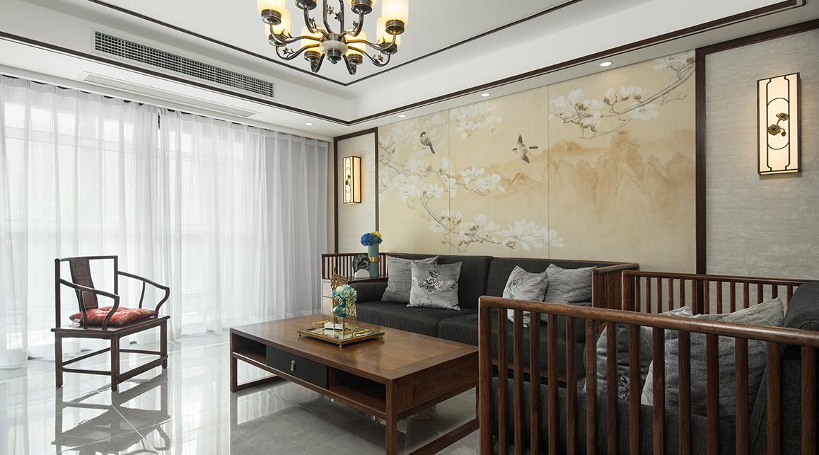 月安花园二手房装修-124平米-新中式