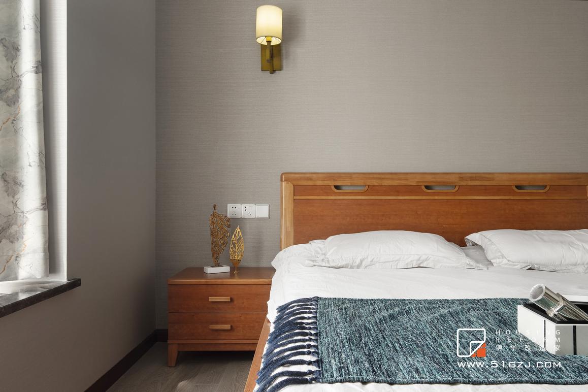 月安花园二手房装修-124平米-新中式  装修-三室两厅-新中式