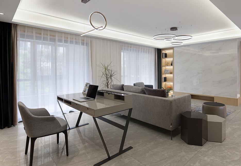 【保利云禧】127平米旧房全部翻新改造案例-三室两厅-现代简约