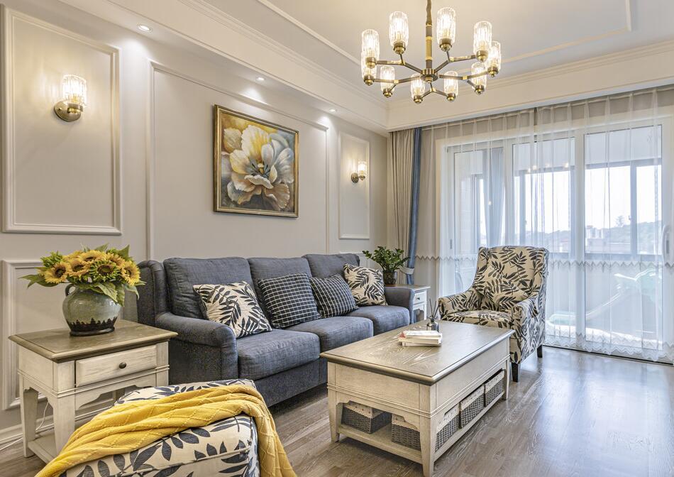 【德水香林】133平米旧房翻新装修案例-四室两厅-简约美式