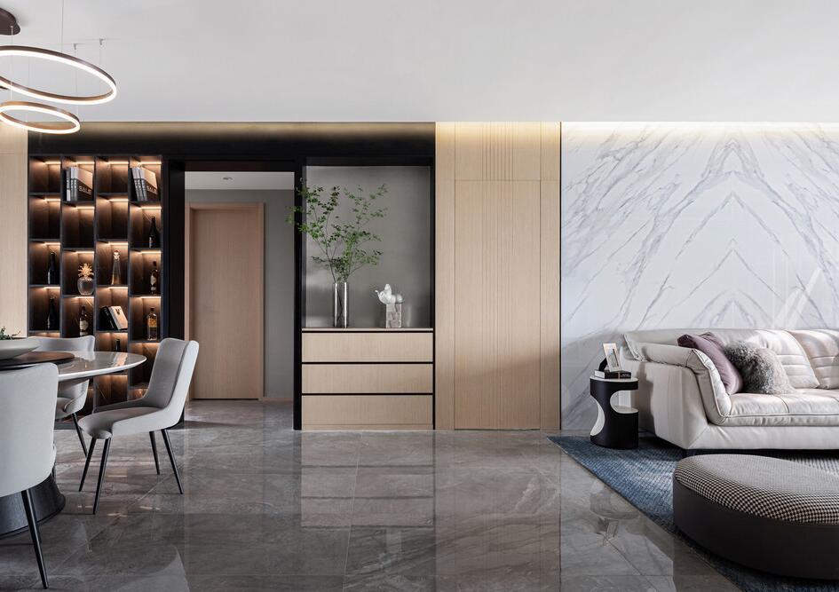 【金陵湾】200平米老房翻新改造案例-两室两厅-现代简约
