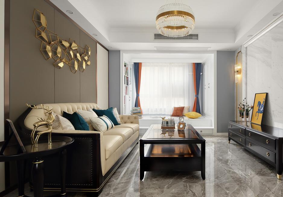 【御湖世家】106平米老房整体翻新案例-三室两厅-美式轻奢