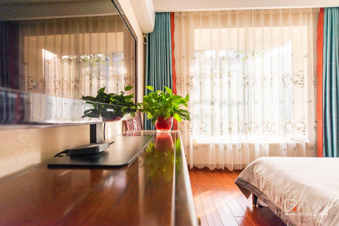 鑫園凱旋城二手房翻新-130㎡-新中式裝修-三室一廳-新中式