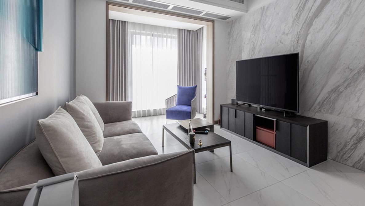 【清水湾】90平米旧房翻新改造案例-两室两厅-现代简约