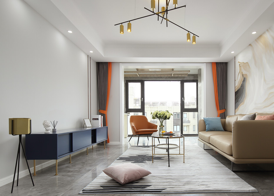 【電建洺悅府】105平米二手房翻新改造案例-三室兩廳-現代輕奢