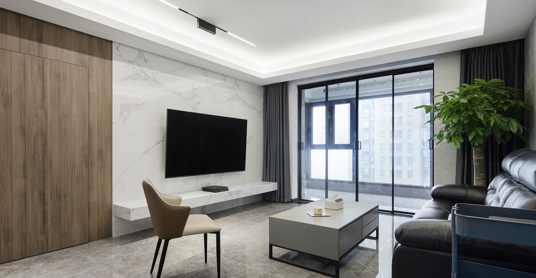 【世茂外灘新城】140平米二手房翻新局部裝修案例-三室兩廳-現代簡約