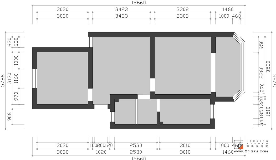 开源三村二手房翻新-62㎡-现代简约   装修-小户型-现代简约